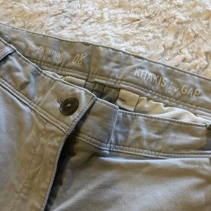 Super skinny khakis by gap size 8